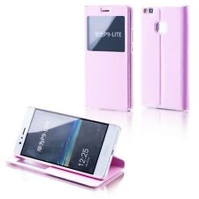 Booktasche Flip Window Rosa für Huawei Honor 6X Tasche Cover Hülle Case Etui Neu