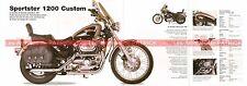 HARLEY DAVIDSON XL 1200 Sportster Custom 1996 Fiche Moto 000513