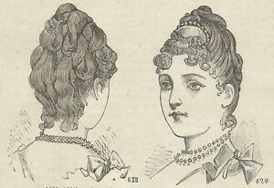 A4453 Styling Modern Of Garment - Incision - Print Antique Of 1887