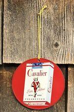 Vintage CAMEL CAVALIER Cigarettes 2 Sided Tin Sign Fan Light Pull Advertising