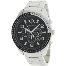 Armani Exchange AX1254 Men's Silver Steel Bracelet With 47mm Analog Watch NIB