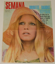 BRIGITTE BARDOT Semana 1970 cover & 1 page article Spain magazine clippings