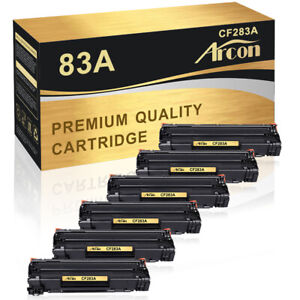 6 Pack CF283A Toner Compatible for HP 83A LaserJet M127fn M127fw M125nw M201dw