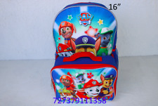 """Nickelodeon Boy Paw Patrol 16"""" Backpack With Detachable Matching Lunch Box-1358"""