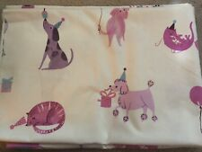 1m x LAURA ASHLEY PETS PINK FABRIC ~ GIRLS BEDROOM CURTAINS / BLINDS / CUSHIONS