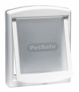 Petsafe Plastic Pet Door Flap 2-Way Easy Install White Lockable Entrance Medium
