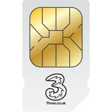Three 3g Mobile Broadband SIM Card Ready to Go for Data iPad Tablets 3 Internet