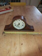 radio controled table clock dark wood