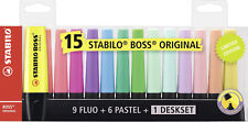 Stabilo Boss Original Desk-set - 15 colori assortiti 9 Neon (desk-set)