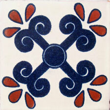 #C049) Mexican Tile sample Ceramic Handmade 4x4 inch, GET MANY AS YOU NEED !!