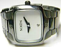 ladies Nixon The Small Player VIP Pass Real Diamond Square Tank dress Watch
