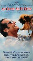 As Good as It Gets (VHS, 1998) Jack Nicholson, Helen Hunt, # 043396217034