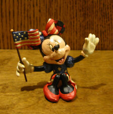 """Jim Shore Disney Traditions Minis #4056744 MINNIE MOUSE w/ FLAG, New, 3.125"""""""