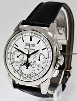 Patek Philippe Grand Complications Chronograph 18k White Gold Watch NEW 5270G