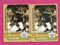 2 X 1972-73 OPC # 85 RANGERS BRAD PARK NHL ACTION GOOD CARD (INV# C1691)