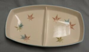 Vtg Franciscan Sycamore Divided Dish Bowl Gladding McBean Retro Mid-Century