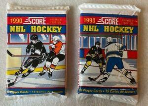 1990 Score NHL Ice Hockey Cards Premier Edition 2 Packs (30 Cards) - Gretzky?