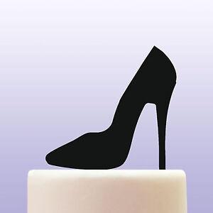 Stiletto High Heel Shoe Acrylic Designer Fashion Birthday Cake Topper Decoration