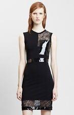 NWT! $ 2,295 Christopher Kane Lace & Patent Leather Black Sheath Dress XS U.S 2