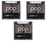 POP Beauty Brow Duette classy brunette brow wax + powder 0.08 oz lot of 3