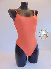 Vintage 80 V DE V Costume Intero M 44 Mare Piscina Donna Swimsuit 90 Arancione