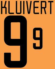 Holland Kluivert Nameset 2002 Shirt Soccer Number Letter Heat Print Football A