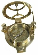 4inch Nautical Collectible Brass Sundial Compass Nautical Decor Maritime Gift