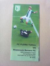 Programme FC Flora Tallinn Estonia - Shamrock Rovers FC Ireland 2011-2012 CL