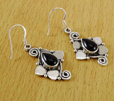 Black Onyx Stone 925 Sterling Silver Dangle Earring Set Jewelry Bridesmaid Gift