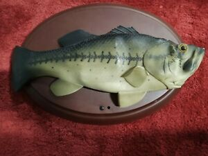 RARE Boogie Bass Singing Fish Wall Mount Novelty Tested Working