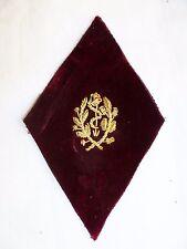 Losange mod. 1945 brodé cannetille or Caducée Médecin Service de Santé ORIGINAL