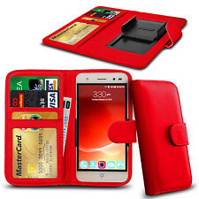 Clip On PU Leather Flip Wallet Book Case Cover For ZTE Open L