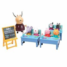 NUOVO Peppa Pig CLASSROOM Playset con 7 Figure & Accessoires