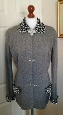Authentic Christian Dior Boutique Vintage Grey Boucle Beaded Jacket FR36 UK8