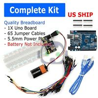 Pro UNO R3 Doit Starter Kit Breadboard Dupont Cable Power Board PCB For Arduino