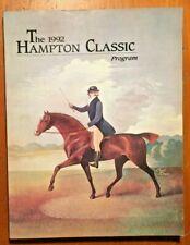 1992 Hampton Classic Program Horse Show Equine Paul Davis Cover + Ticket
