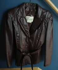 Berman's Burgundy Leather Jacket w/ Removable Lining - Size 12