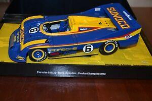 1/18 MINICHAMPS MARK DONOHUE 1973 SUNOCO PORSCHE 917 30 CAN AM CHAMPION RACE CAR