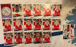 TOPPS UEFA CHAMPIONS LEAGUE 2020/21 FULL TEAM SET OF ALL 18 AJAX STICKERS