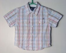 TOMMY HILFIGER Boys Size 18-24 Months Multi-Color Plaid Short Sleeve Shirt