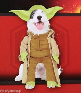 """Disney Star Wars Yoda Pet Dog Costume Size XSmall 12"""" Chest 17"""" Neck to Tail"""