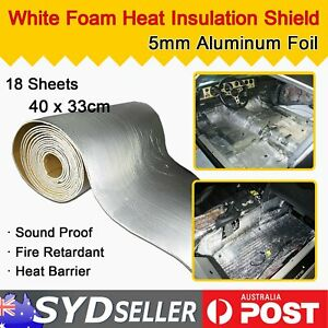18 Sheets Heat Shield Barrier Car Body/Cabin Sound Insulation Deadening Material
