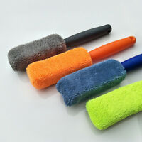 Auto Care Tire Wheel Cleaning Brush Microfiber Scrub Dust Remover Cleaning Tool