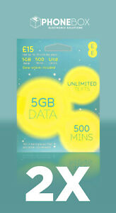2 X EE PAY AS YOU GO SIM CARD-  DATA ROLLOVER INCLUDED - £15 30 DAY PACK