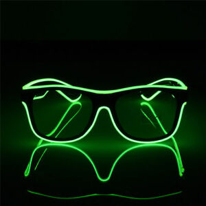 LED EL Wire Glasses Light Up Glow Glasses Eyewear Shades for Nightclub Party