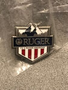 Rare Unused Ruger Guns Enameled American Hat Lapel Shirt Pin - NEW