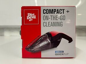 NEW Dirt Devil Handheld Quick Flip 8V Lithium Cordless Hand Vacuum BD30010
