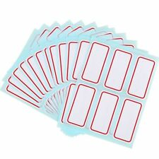 12 Sheets White Price Stickers Self Adhesive Labels Blank Name Number Tags Good