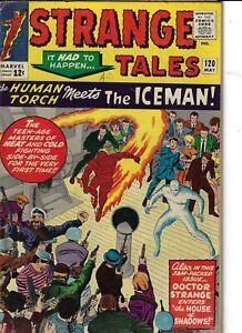 Strange Tales 120 Dr Strange Human Torch Iceman (1st X-Over) VG 1964 Glossy