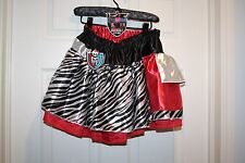 Costume Monster High Petti skirt Reversible Child Kids Red Black Ages 6+ NWT